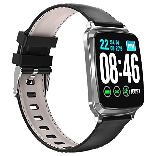 Matoen Sport Fitness Smart Watch Band Heart Rate Blood Pressure Sleep Monitoring SmartWatch Pedometer Tracker (Silver)
