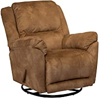 Catnapper Maverick Chaise Swivel Glider Recliner in Saddle