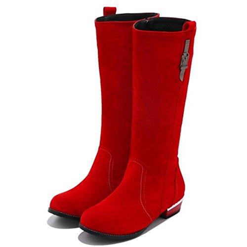 Red Botas Invierno RAZAMAZA para de Mujer qnw0XS77g4