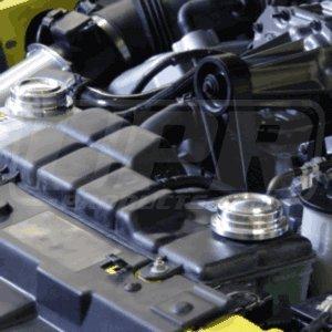 - UPR 2003-04 Mustang Cobra Billet Radiator Cap Cover Set Satin