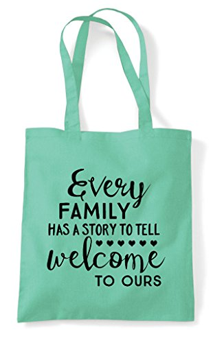 A Statement Tote Shopper Bag Every Has Mint To Tell Family Welcome Ours Story 8z6PwzExq