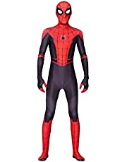 Spider-Man: Far from Home Kids Bodysuit Spiderman Superhero Costumes Lycra Spandex Halloween Cosplay Costumes