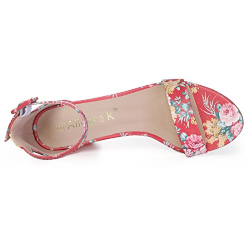 Allegra Zapatos Mujer Tacón floral Red De K SHqw5CSv