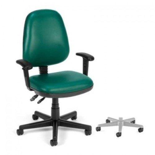 OFM 119VAMAAHF605 Navy Straton AntiMicrobial/AntiBacterial Vinyl Task Chair with Arms/Hard Floor 119VAMAAHF ()