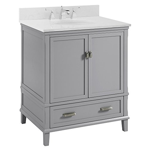 "Dorel Living Otum 30"" Bathroom Vanity, Gray"
