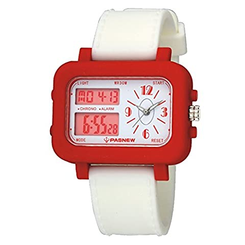 Very Sweet Children Girls Digital Waterproof Digital Analog Watches with Alarm Chronograph Red (Citizen Watch Silicone)