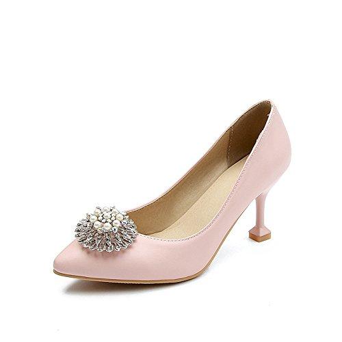 la moda consejos singles A de primavera powderred la luz femeninos zapatos tacón de de qq0watz