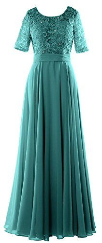 MACloth Women Lace Formal Evening Gown Half Sleeve Long Mother of Bride Dress Oasis oRkW7