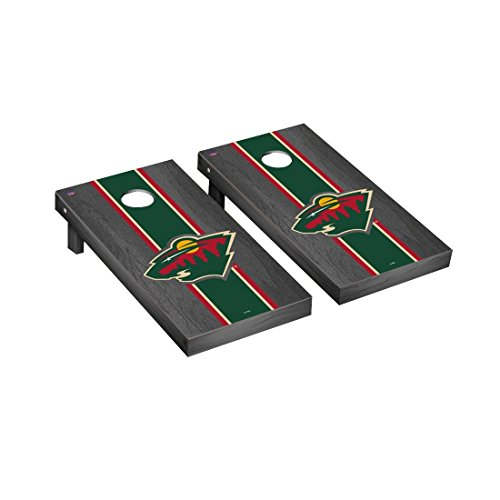Victory Tailgate Minnesota Wild NHL Regulation Cornhole Game Set Onyx Stained Stripe Version