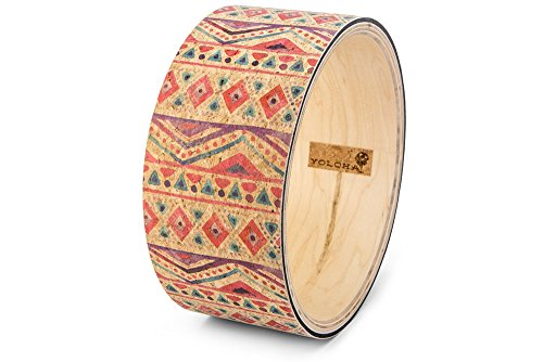 Yoloha Premium Cork Yoga Wheel