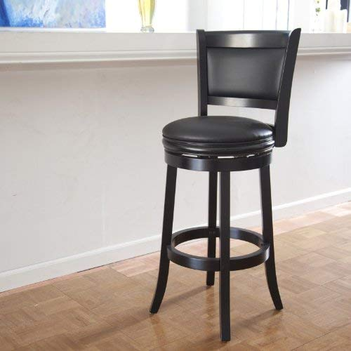 Boraam 45829 Augusta Bar Height Swivel Stool, 29-Inch, Black