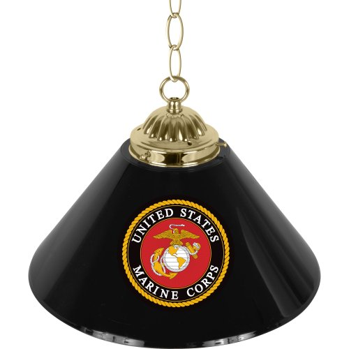 United States Marine Corps Single Shade Gameroom Lamp, 14