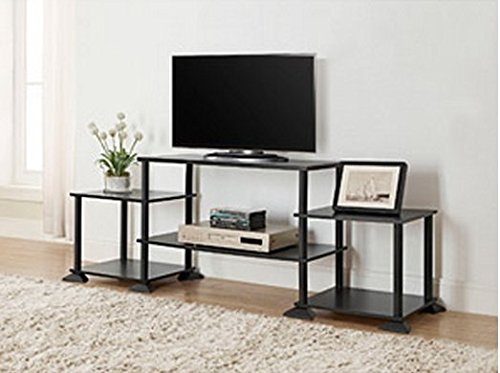 3-cube Media Entertainment Center for Tvs up to 40 Plasma Television Cabinets Flat Screen Stand Stands Storage Organizer Home Living Room Furniture Black Sale Modern