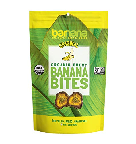 Barnana Organic Chewy Banana Bites - Original - 3.5 Ounce - Delicious Barnana Potassium Rich Banana Snacks - Lunch Dinner Sports Hiking Natural Snack