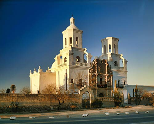 White Dove of the Desert, Mission Church, San Xavier del Bac, Arizona, landscape photo, wall art, home decor, office decor, sizes up to 44x66 inches, fine art print, signed by the artist.