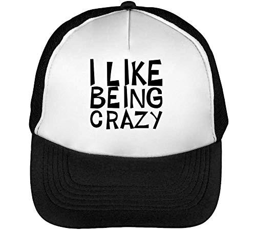 Snapback Negro I Blanco Like Gorras Hombre Being Beisbol Crazy RwSTxpPSq