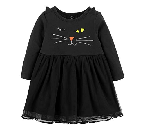Carter's F18 Halloween Black Cat Dress 2 Piece Newborn -