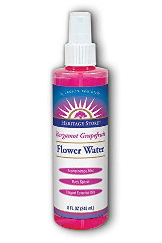 Bergamot Grapefruit Flower Water Spray Heritage Store 8 oz Spray (Heritage Store Rose Petals Rosewater)