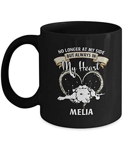 Personalized Name Coffee Mug - Always In My Heart MELIA Ceramic Mugs - Personalized Name Gifts for Women Mom Grandma Daughter Girlfriend on Birthday Xmas Valentine - Tea Cup Black Ceramic 11oz - Melia Ceramic