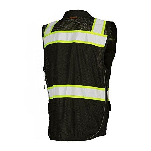 ML Kishigo - Black Heavy Duty Safety Vest Size: 3X-large by ML Kishigo (Image #4)