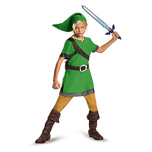 Link Legends Of Zelda Costume (Link Classic Costume, X-Large (14-16))