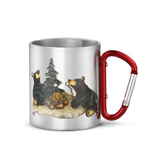 Big Sky Carvers Campfire Memories Carabiner Mug, (Stainless Steel Carabiner Mug)