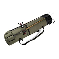 Fishing Rod Reel Case Bag Organizer Travel Carry Case Carrier Holder Pole Tools Storage Bags Structure:Opening: Draw cord opening, easy and convenient. Pockets: One buckle outside pocket; case holds 5 rods on the outside bottom; enough...