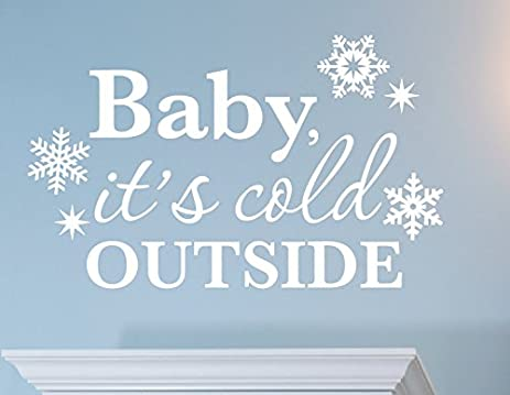 Zixinruies Baby Itu0027s Cold Outside Wall Decal, Snowflake Wall Decals, Winter  Decor, Christmas