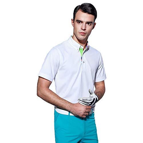 0f6fe7339 EAGEGOF Men's Shirts Short Sleeve Tech Performance Golf Polo Shirt Loose Fit