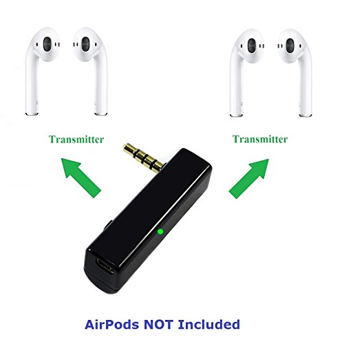 KOKKIA iSplitter (Black) : Tiny and Extremely Versatile. iAdapter Multi-Streaming Bluetooth Stereo Transmitter Splitter. Works Well Streaming to 2 Sets of AirPods.