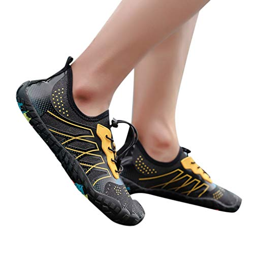 Respirable Playa Calcetines Zapatillas Agua Deportes Hombre Zapatos Para Amarillod Descalzo Calzado De Escarpines Barefoot Mujer Zarlle W4Ynqvzw