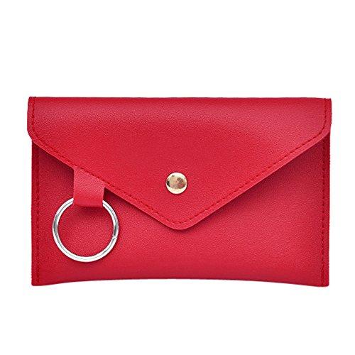 Goddessvan Women's Ring Leather Belt Fanny Pack with Removable Belt Fashion Waist Pouch Belt Bags Messenger Shoulder Bag Red