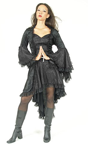 Eternal Love Plus Size Black Gothic Gwendolyn Dress Taffeta Lace (2X) by Eternal Love