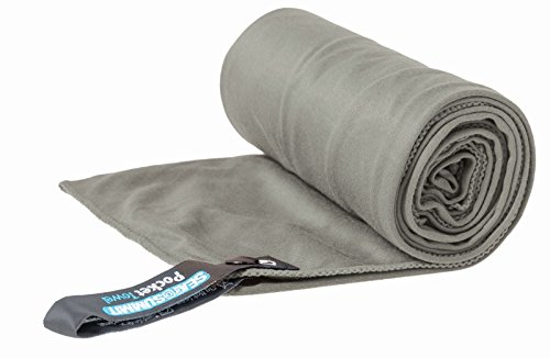 "Sea to Summit Pocket Towel, Grey, XL - 30"" x 60"""