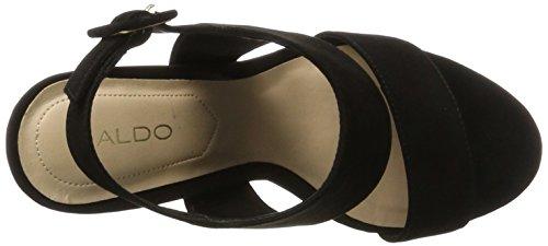 Aldo Elise, Zapatos de Punta Descubierta para Mujer Negro (Black Nubuck 93)