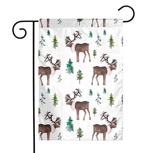 """Life shop Moose in The Wild Art Garden Flag Yard Flag 12"""""""" x 18"""""""" Home Decorative House Flag,Banners for Patio Lawn Outdoor"""