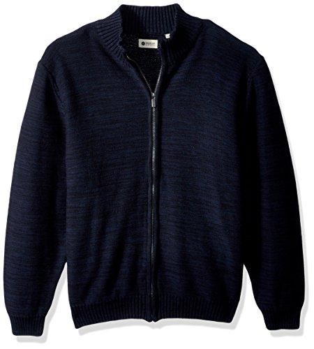 Jersey Mechanical Marl Full Zip Sweater, Coast, L ()