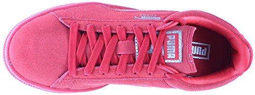 Sneaker Di Moda Da Uomo Classico In Pelle Scamosciata Color Rosso Puma