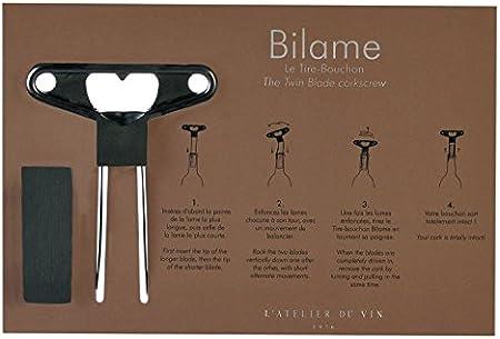L'Atelier du Vin 095223-0 Sacacorchos Bilame específico, Metal, L 21 cm x l 14 cm x h 0,5 cm
