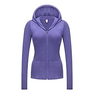 REGNA X NO BOTHER Women's Full Zip Solid Color Stretchy Essential Hooded Jacket