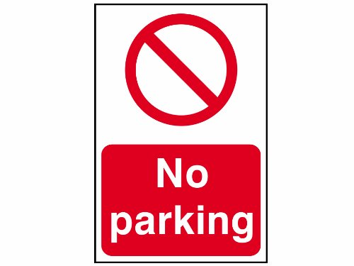 Scan 0605 200 x 300mm PVC No Parking Sign SCA0605