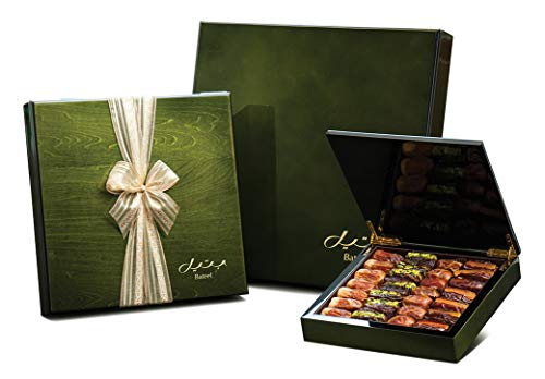 Olive Green Wood Gift Box with Gourmet Dates