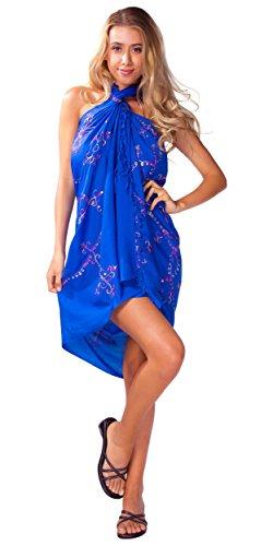 Bordado W del para patrones azul mujer ba con Traje de 1 mundo Sarong o Sarongs multicolores gn8w5PCqx7