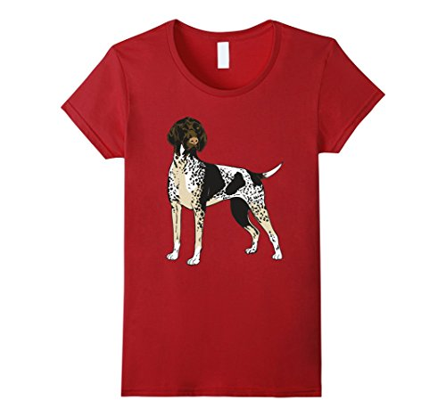 Women's German Shorthaired Pointer Dog Breed T-Shirt Gifts Dogs Fan Large Cranberry