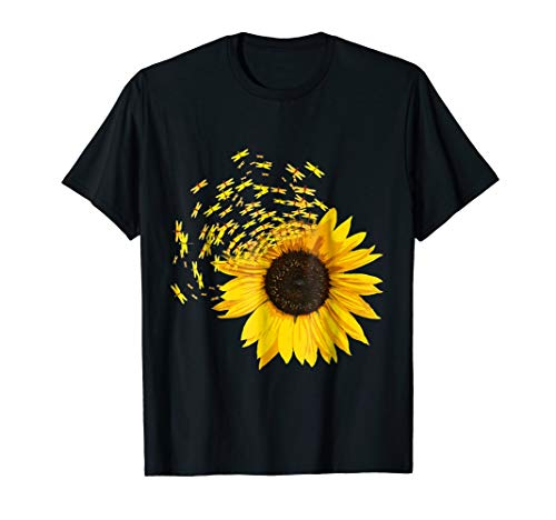 Sunflower Dragonfly Shirt Hippie Dragonfly Lovers Shirt