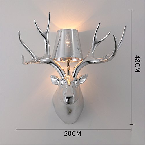 JhyQzyzqj Wall Sconce Wall Lights Nordic Wall lamp Modern Simple Creative Bedroom Bedside Balcony Aisle Permanent and Wall Lights Antlers lamp Resin Wall Lights
