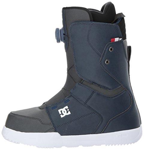 DC Men's Scout Boa Snowboard Boots, Insignia Blue, 7