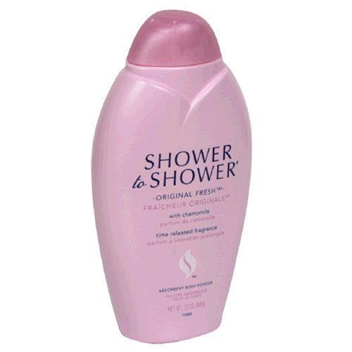 Shower Powder Shower Body (Shower to Shower Absorbent Body Powder, Original Fresh with Chamomile, 13-Ounce Bottles (Pack of 2))
