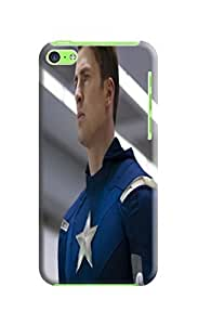 Blue charismatic fantastic iphone tpu cases for iPhone5c of Avengers Captain America in Fashion E-Mall