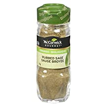 McCormick Gourmet, Premium Quality Natural Herbs & Spices, Organic Rubbed Sage, 21g